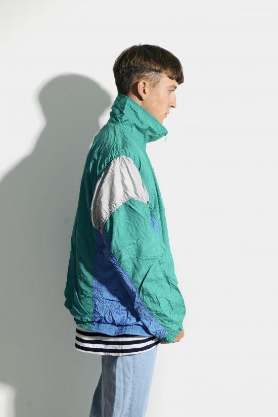 90s retro windbreaker men shell jacket