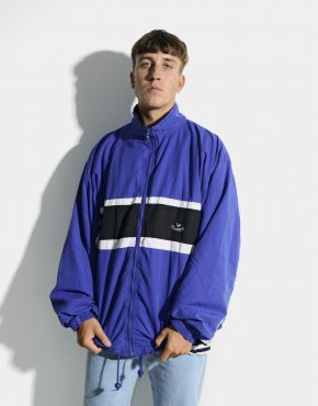 vintage shell jacket blue