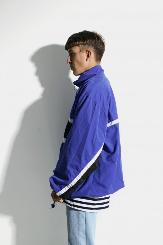 90s vintage shell jacket in blue colour