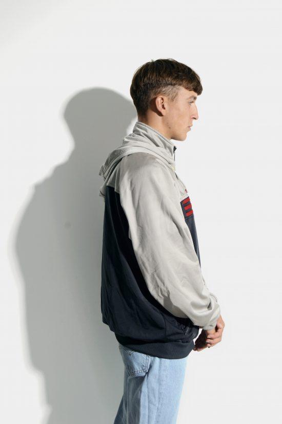 ADIDAS retro track jacket black grey