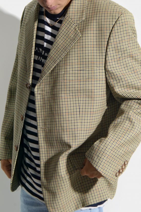 Vintage oversized 90s blazer men's beige