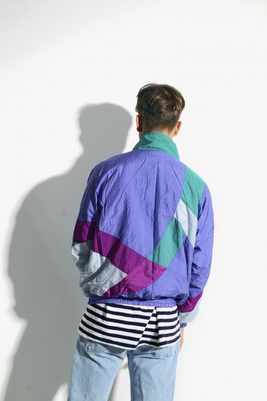 80s vintage multi colour block jacket
