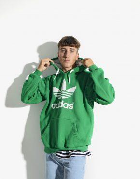 ADIDAS 90s green hoodie