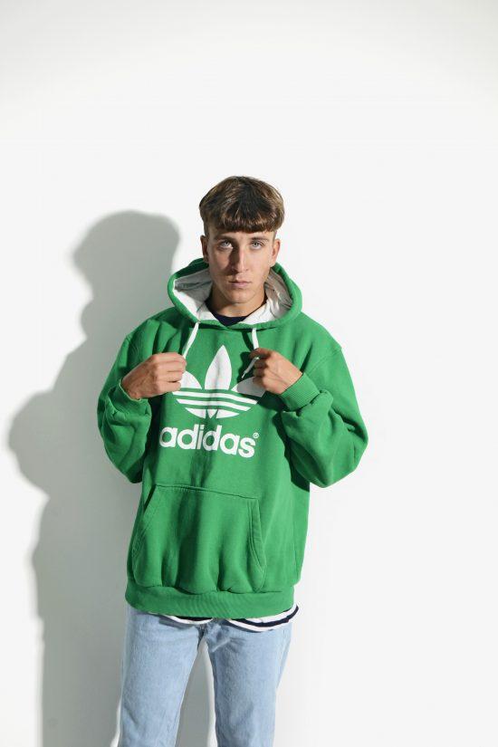 ADIDAS 90's green hoodie men