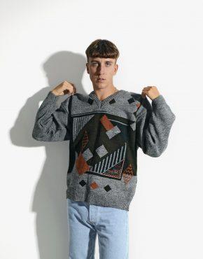 80s vintage sweater mens