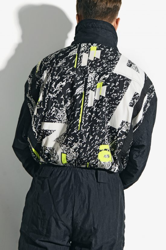 80s vintage winter warm ski suit