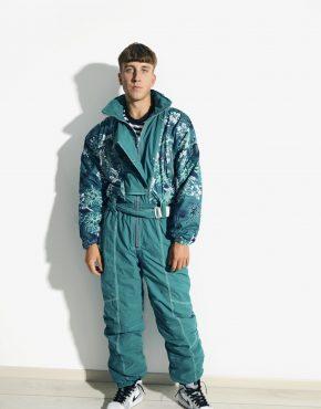 retro abstract ski suit