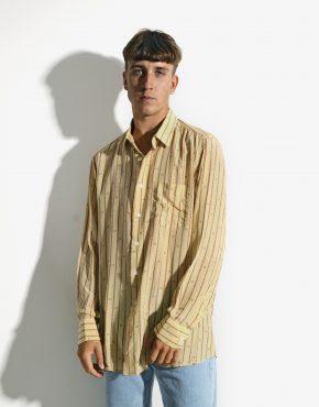 Retro long silk shirt