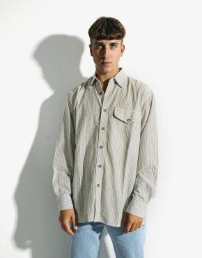 Retro striped sleeve shirt