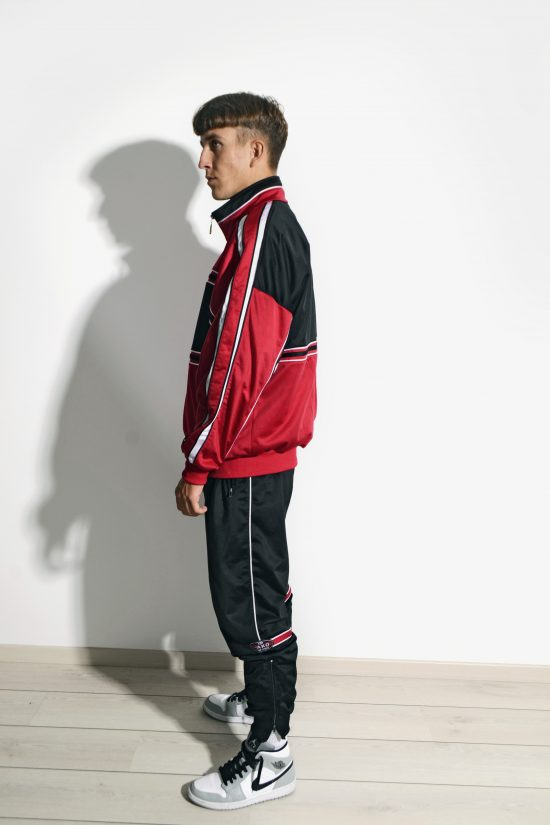 Old School 90s tracksuit set red black