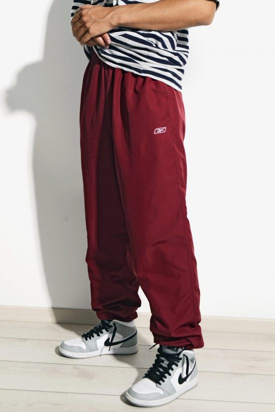 90s Reebok wind pants in red colour
