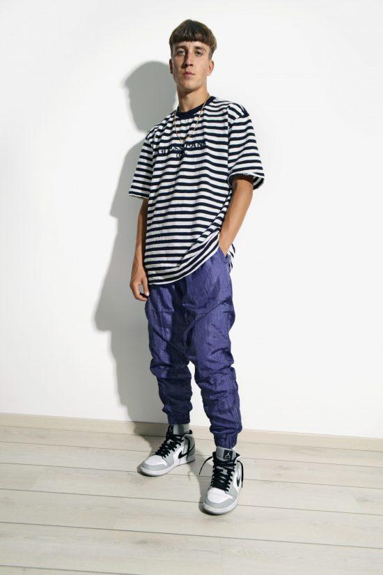 Retro sports trousers shell nylon pants