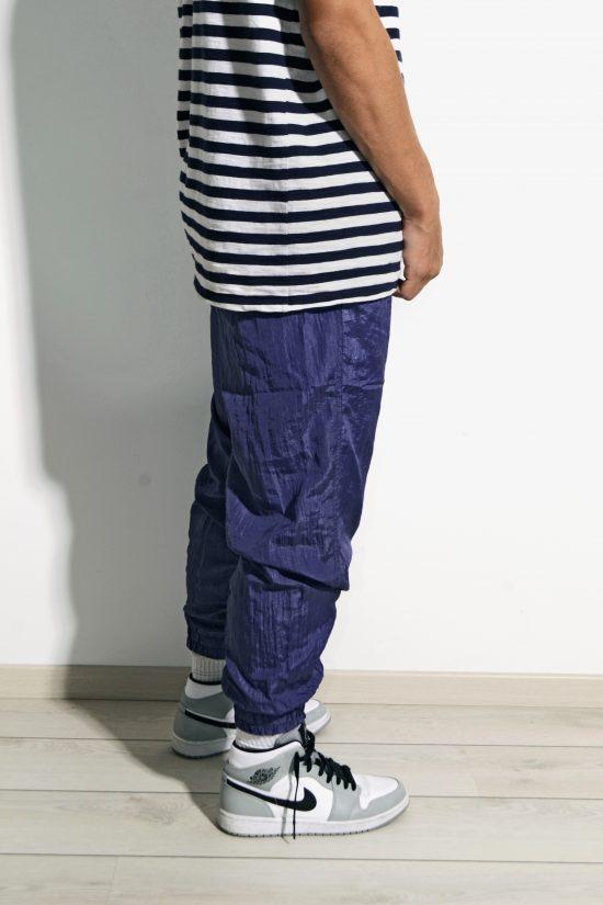 Retro sports trousers pants blue