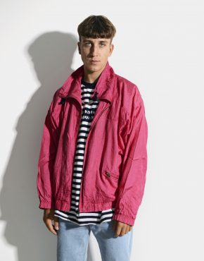 80s retro windbreaker jacket