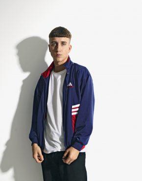 90s ADIDAS jacket blue