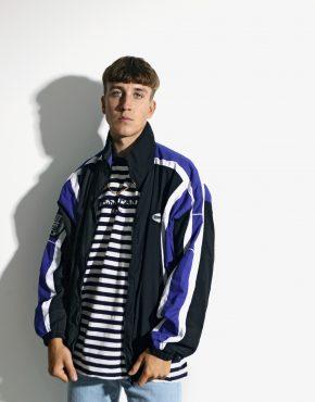 Mens vintage jacket black blue