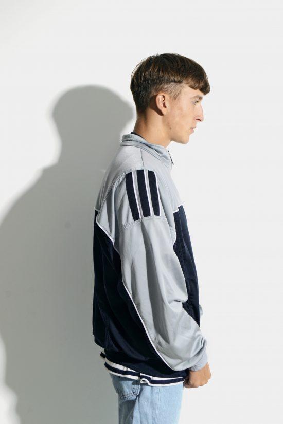 Vintage 90s ADIDAS sport jacket grey blue