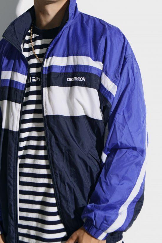 80s retro blue jacket