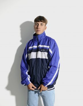 80s retro blue jacket