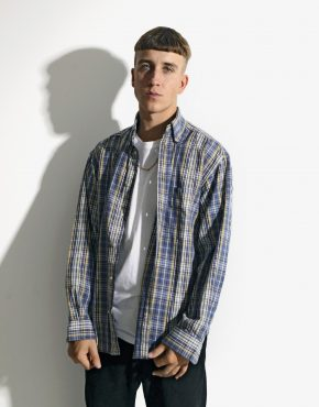 Vintage plaid cotton shirt