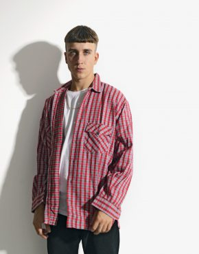 Retro plaid shirt red
