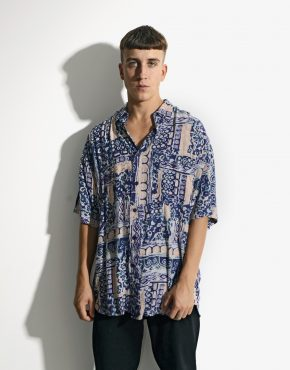 90s abstract patterned mens abstract patterned shirt