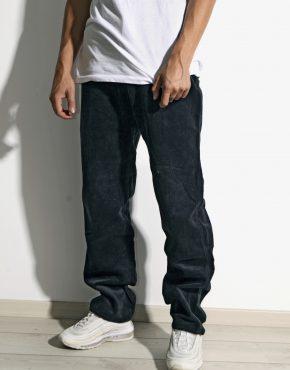 Velvet vintage trousers blue