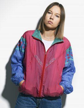80s windbreaker jacket multi