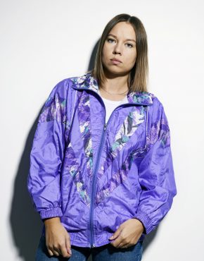 80s windbreaker purple small