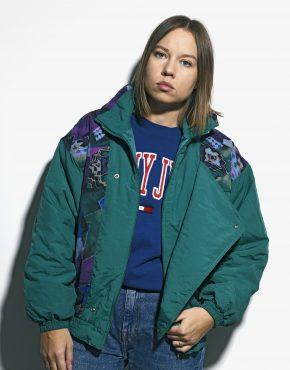 80s green warm jacket