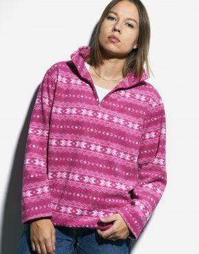 Vintage fleece ski pullover