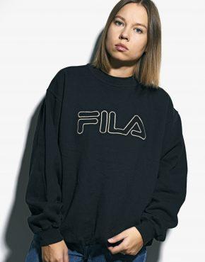 FILA vintage sweatshirt black