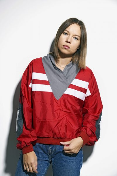 Retro lightweight anorak jacket
