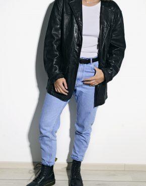 Vintage soft leather coat