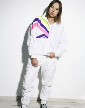 80s tracksuit set white