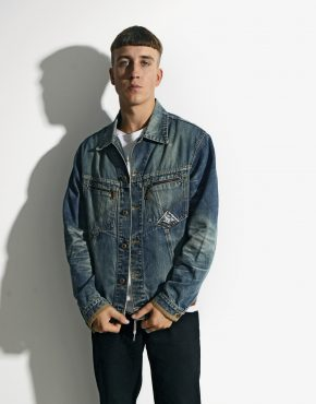 Vintage denim jacket retro