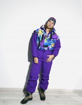 winter ski suit retro