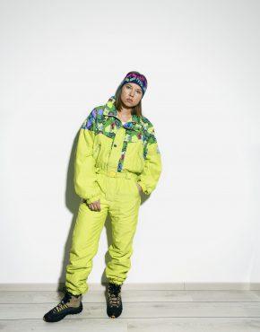 Retro 80s ski suit