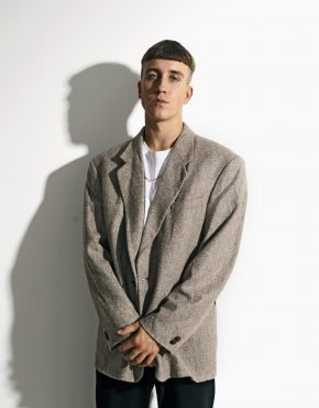 80s vintage blazer beige