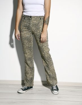 90s patterned trousers women