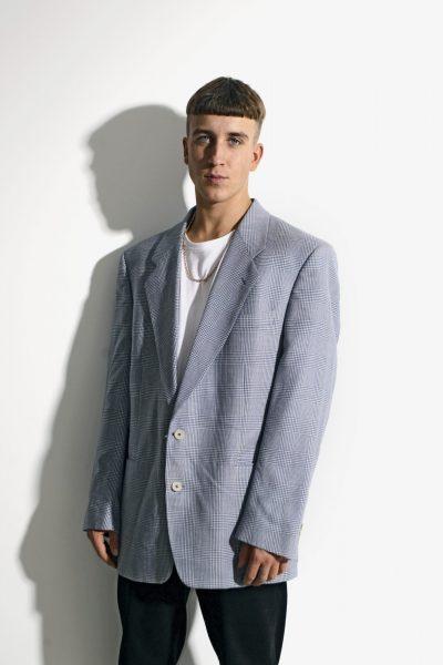 90s blazer blue white
