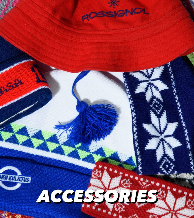 VINTAGE 90s 80s RETRO WINTER SKI HATS AND HEADBANDS