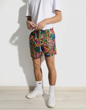 90s abstract pattern shorts