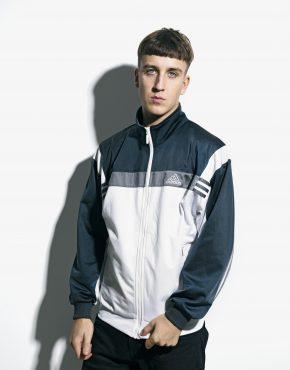 90s ADIDAS blue jacket