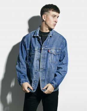 Vintage denim jacket men