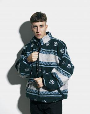 80s green fleece pullover