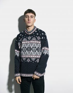 80s retro sweater dark
