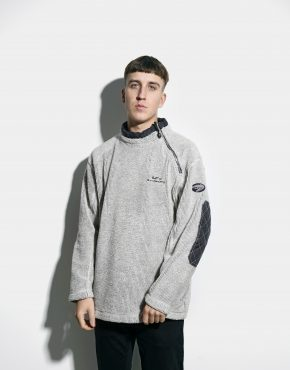 Retro fleece pullover grey