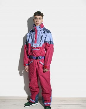 winter 80s ski suit