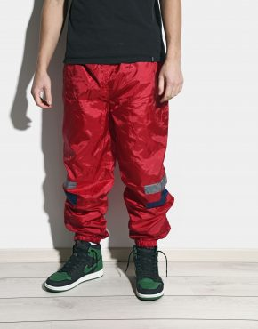 Retro red shell pants